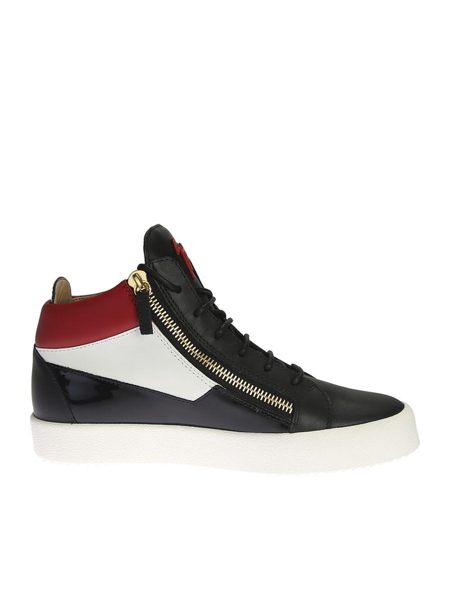 56af77d8fa533 Giuseppe Zanotti Colour Blocked High-Top Sneakers In Harrods | ModeSens