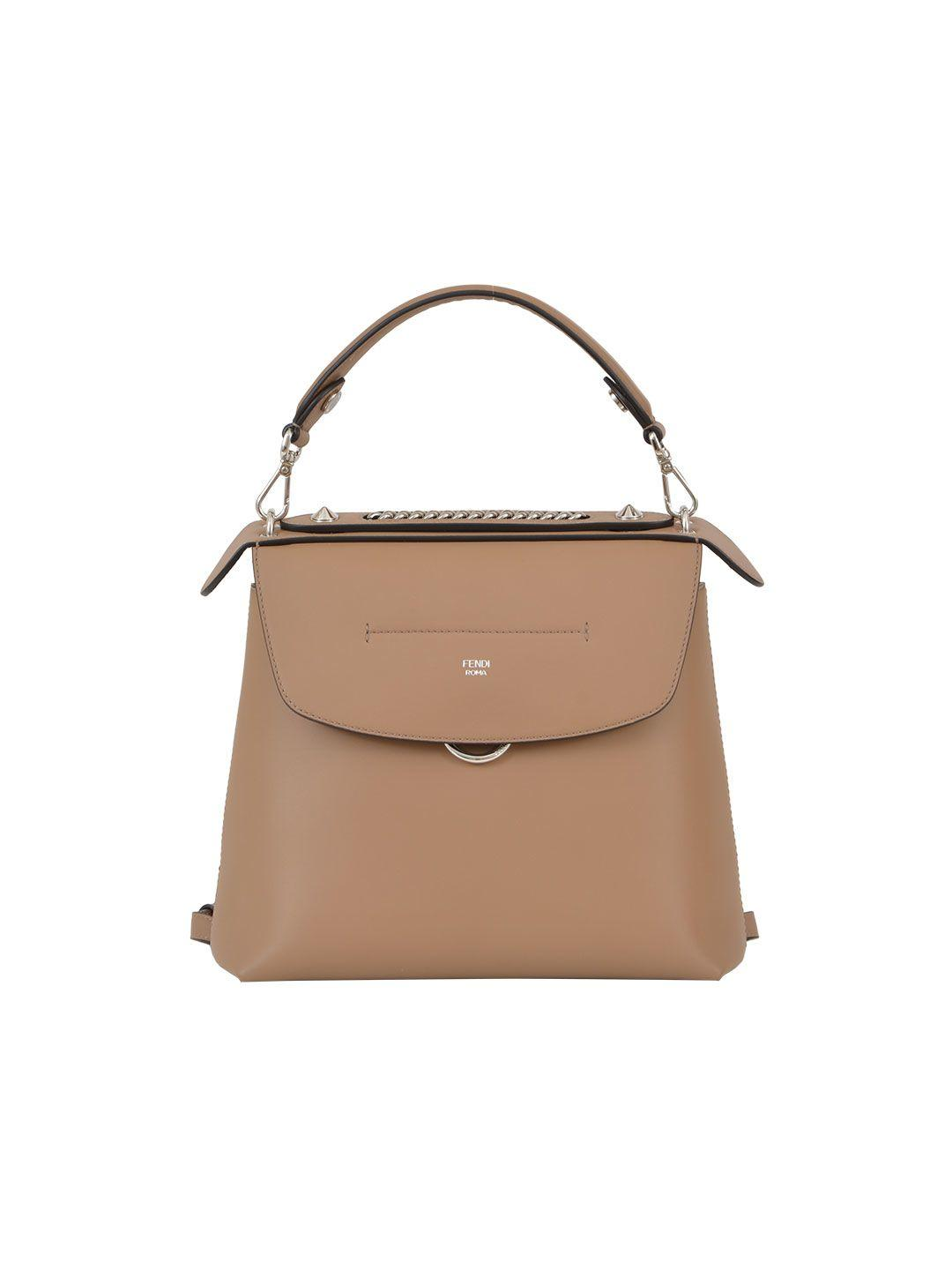 94e323f9d0 Fendi Back To School Large Leather Backpack Crossbody Bag In Sand ...