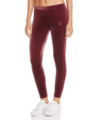 3dd3d77c2a3 Adidas Originals Women's Originals Velvet Vibes Leggings, Red In Maroon