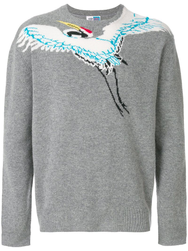 924727e64 Kenzo La Collection Memento N&Deg;1 Bird Sweater In Grey | ModeSens