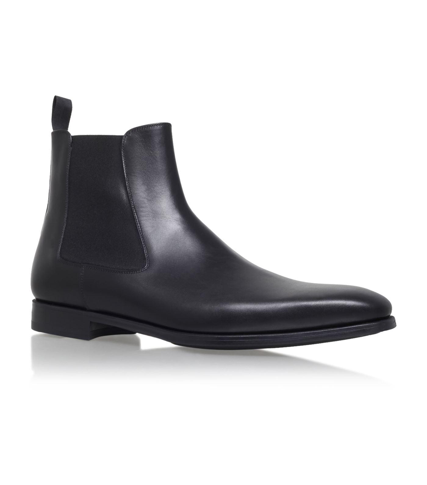 08ac0abbe23 Magnanni Mens Black Luxury Leather Chelsea Boots