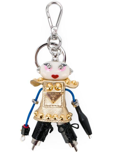 Prada Embellished Robot Keyring