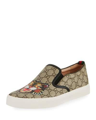 0b0fba3b3d7a Gucci Dublin Gg Supreme Angry Cat Slip-On Sneaker