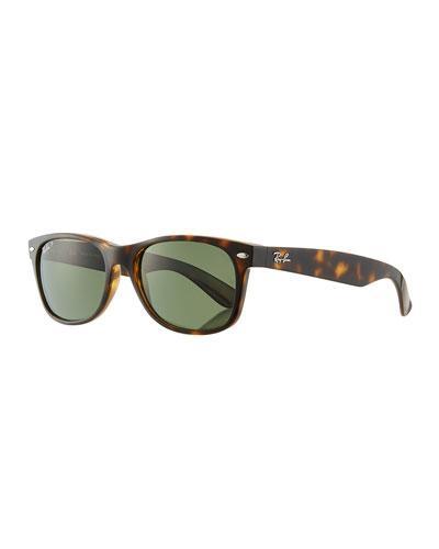 31aa173f6a Ray Ban  New Wayfarer  55Mm Polarized Sunglasses - Tortoise  Green P ...