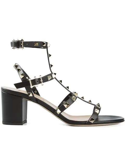 Valentino Garavani Women's Rw2s0491vbp0no Black Leather Sandals