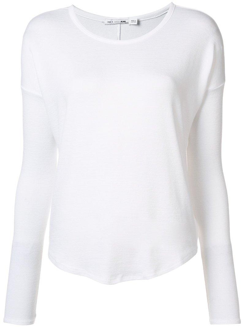 Rag & Bone Hudson Slub Stretch-jersey Top In White