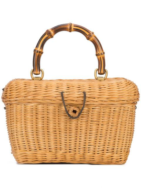 972a02d2f1d Gucci Cestino Bamboo-Handle Wooden Basket Bag In Natural Straw ...