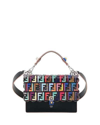 e3c5dec4a48 FUN FAIR KAN I REGULAR FF SHOULDER BAG. Fendi smooth and patent leather ...