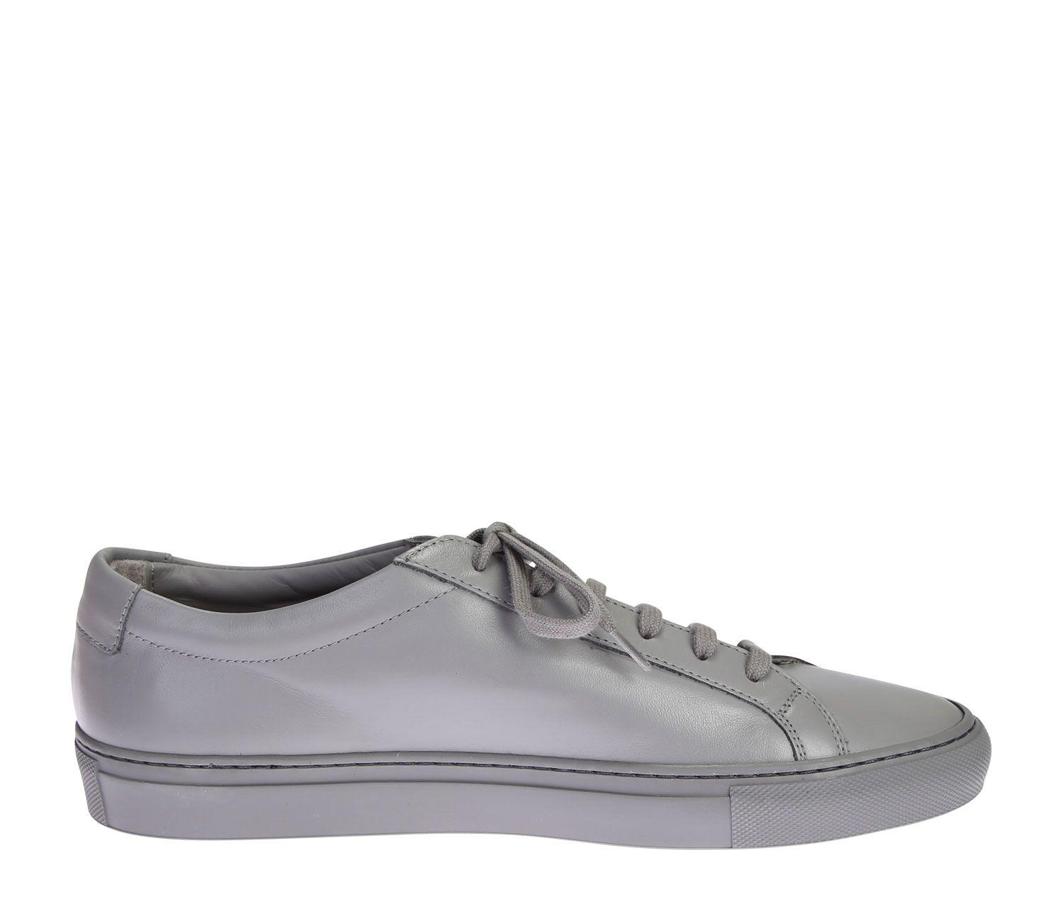 26738d3178a9 Common Projects Medium Grey Leather Original Achilles Low Men s Sneakers In  Gray