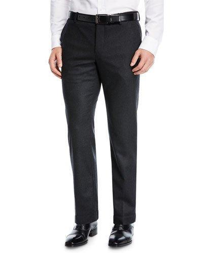 Giorgio Armani 18cm Stretch Wool Blend Seersucker Pants, Navy