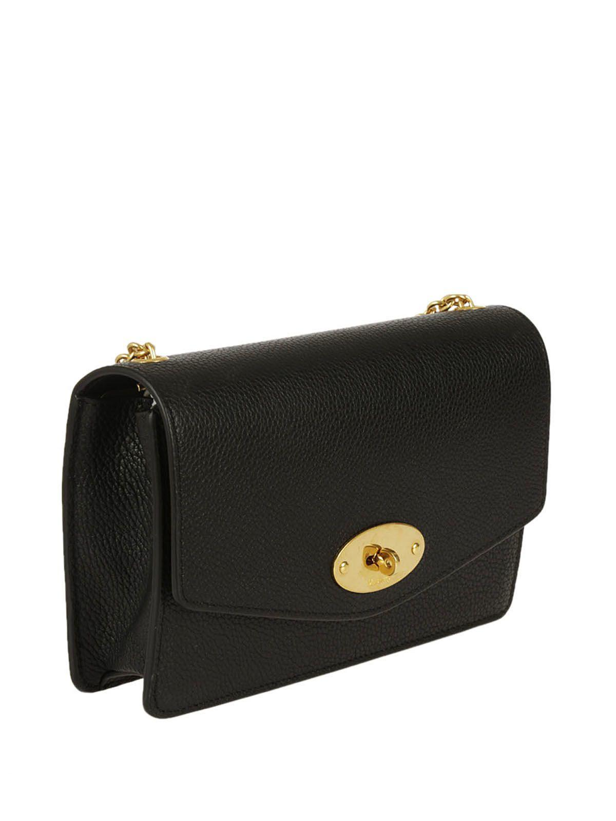 a168843b41 Mulberry Darley Small Textured-Leather Shoulder Bag In Black