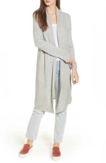 Splendid Uptown Cardigan In Light Heather Grey
