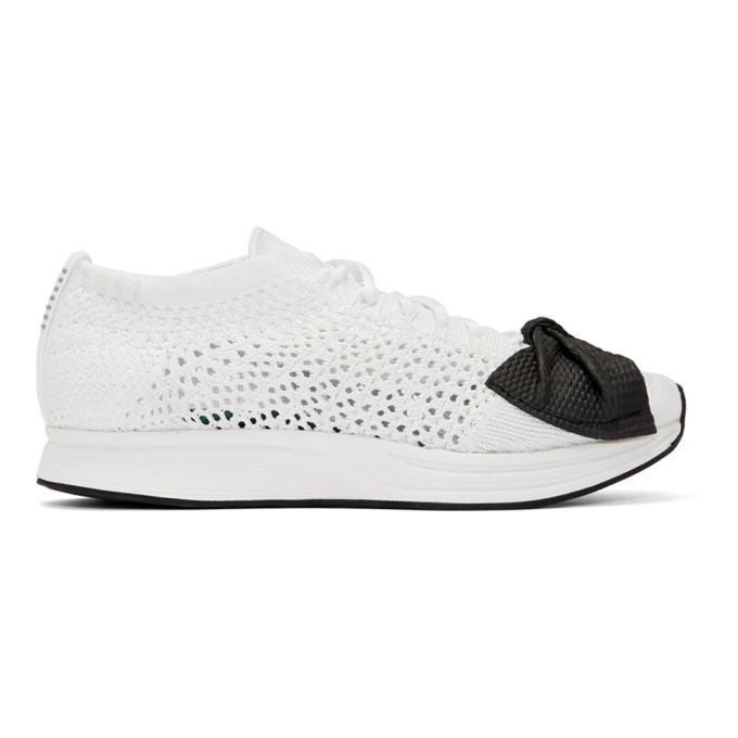 a4972107492 Comme Des GarÇOns White Nike Edition Customized Racer Sneakers ...