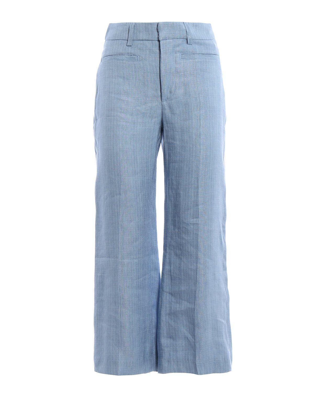 Dondup Romy Wide Leg Jeans In Blue