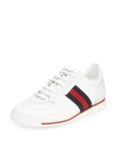 8e25b14feb1 Gucci Sl73 Micro Gg Trainers In White
