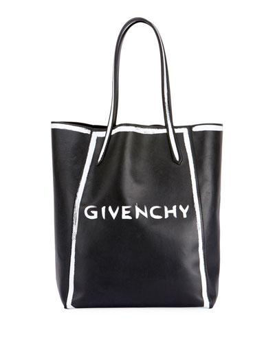 979344dfdcbf Givenchy Stargate Graffiti Calfskin Leather Tote - Black