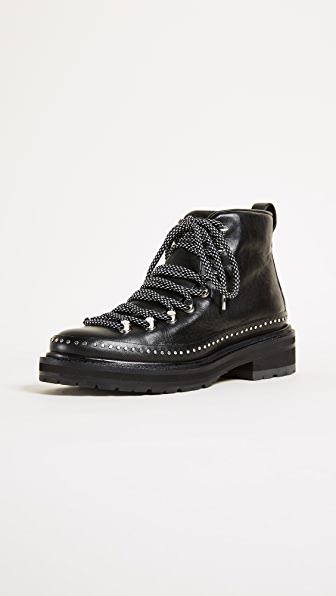 Rag & Bone Compass Ii Studded Leather Ankle Boots In 001 Black
