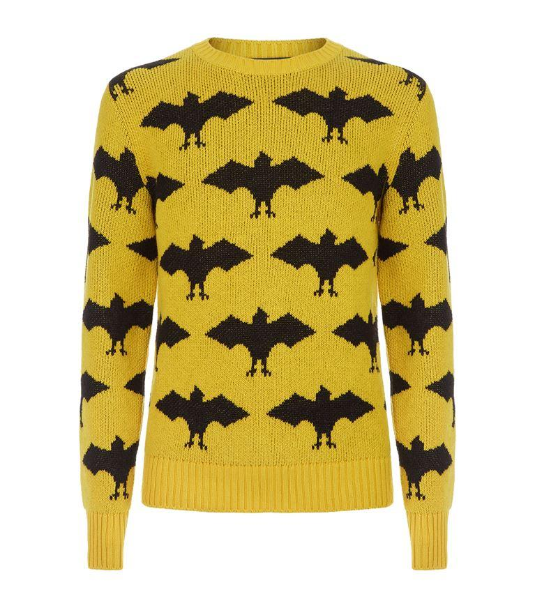 Gucci Woll And Alpaca Jacquard Long Sleeves Crew Neck In Yellow