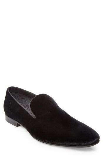 Steve Madden Men's Laight Velvet Smoking Slipper Men's Shoes In Black Velvet