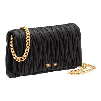 8ad92a32118 Miu Miu MatelassÉ Leather Shoulder Bag In Black