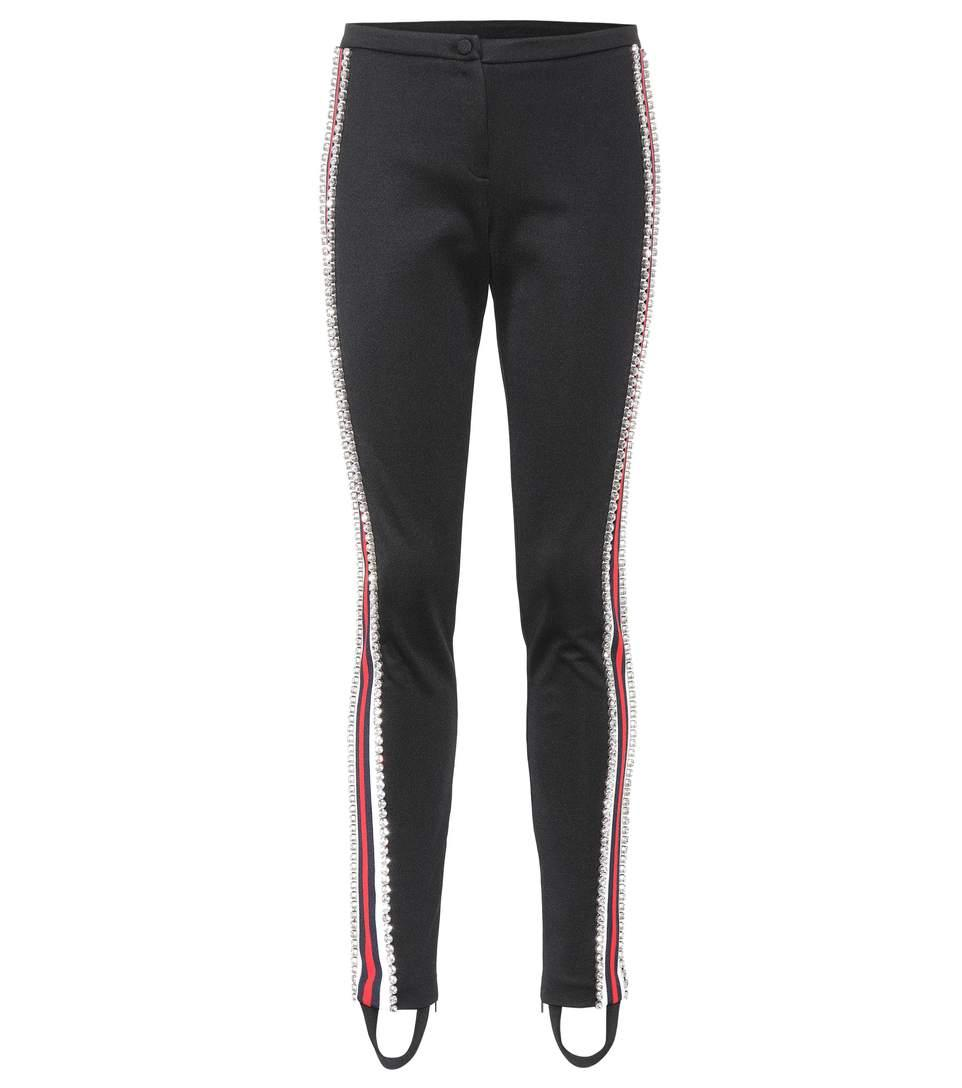 1e37a9ec14c Gucci Jersey Stirrup Leggings With Sylvie Web