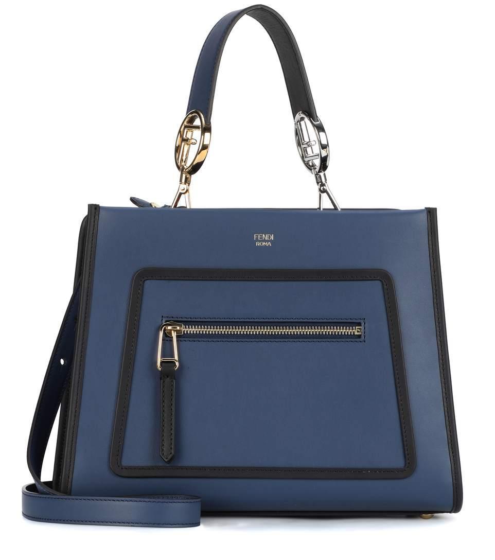 e43fc7e84f4149 Fendi Runaway Small Leather Shoulder Bag In Blue Multi | ModeSens