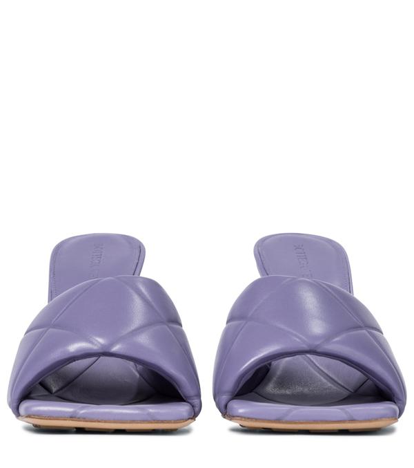 Bottega Veneta Black Bv Lido Leather Sandals - Lyst
