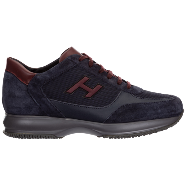 Hogan Men's Shoes Suede Trainers Sneakers Interactive In Blue ...