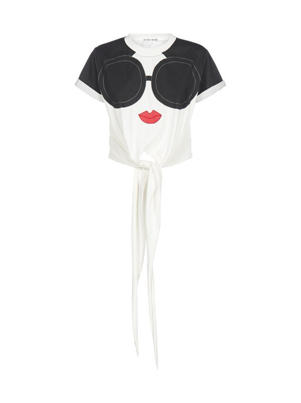 ALICE OLIVIA Femme être le changement que vous souhaitez voir dans monde nouveau T Shirt Blanc