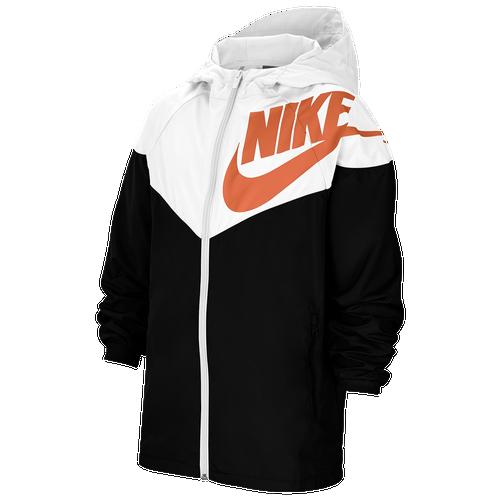 Escandaloso rock Adiós  Nike Kids' Nsw Windrunner Jacket In White/black/camellia | ModeSens