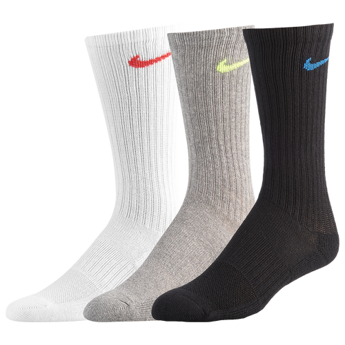 Milímetro Relámpago crisis  Nike Performance Cushioned Crew Kids' Training Socks (3 Pair) In  Multi-color | ModeSens