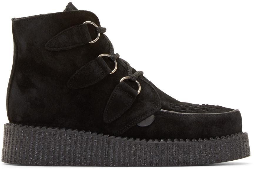 Underground Black Suede Wulfrun Ankle Boots
