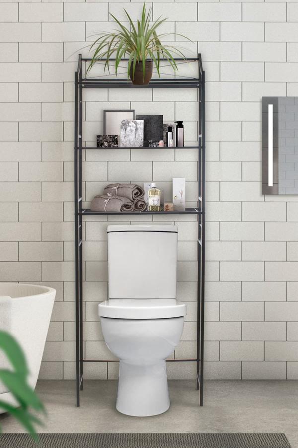 Sorbus Bathroom Storage Shelf Over The, Black Bathroom Space Saver
