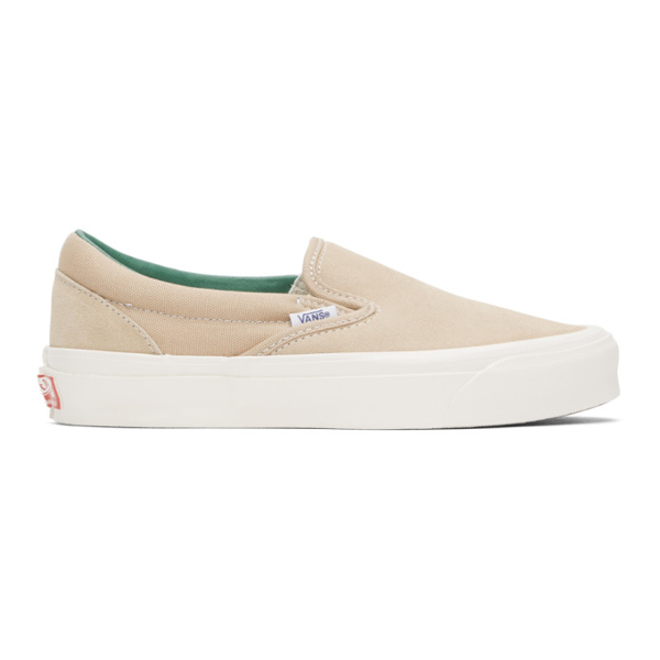 Vans Beige Suede Og Classic Slip-on Sneaker In Sem/p Green | ModeSens