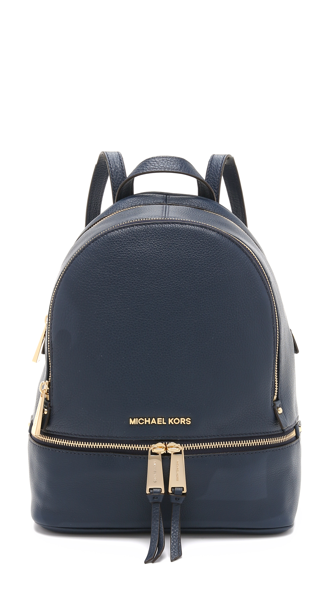 Michael Michael Kors Extra Small Rhea Zip Backpack In Blue   ModeSens 1cd42b8af9