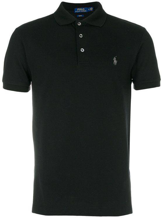 Ralph Lauren Men's 710541705007 Black Cotton Polo Shirt