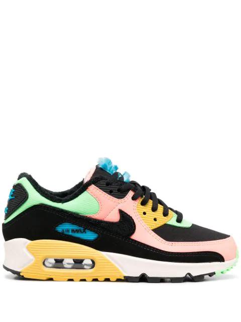 Nike Air Max 90 Prm Fur Lined Sneaker In Atomic Pink/ Black/ Laser ...