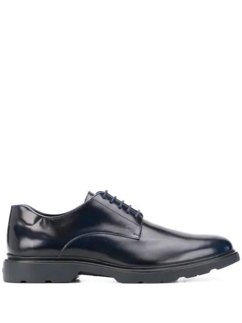 Hogan H304 Derby Shoes In Blue | ModeSens