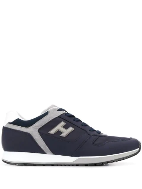 H321 Logo Patch Sneakers In Blue
