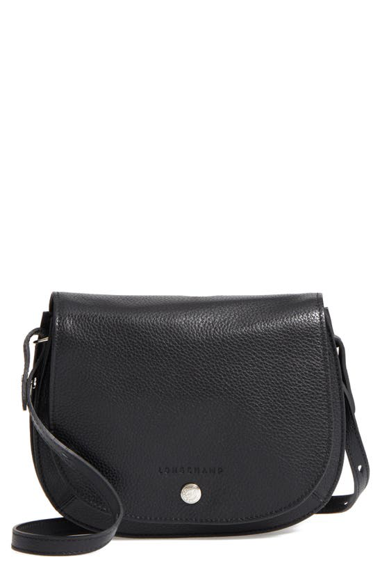 Le Foulonne Small Leather Cross Body Bag In Black