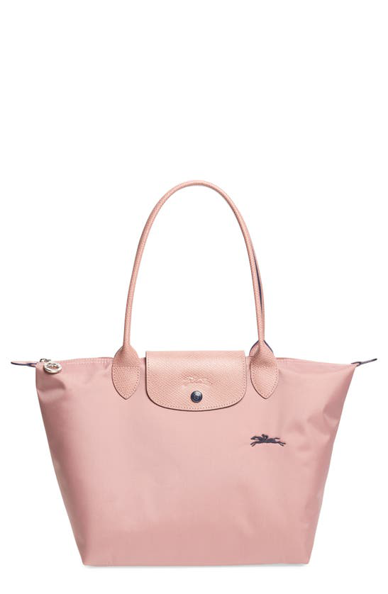 Le Pliage Club Small Shoulder Tote In Antique Pink