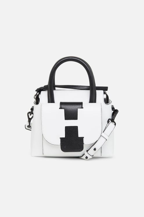 Hogan Bauletto White Leather Mini Bag | ModeSens