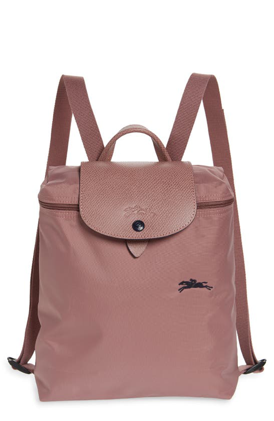 Le Pliage Club Nylon Backpack In Antique Pink