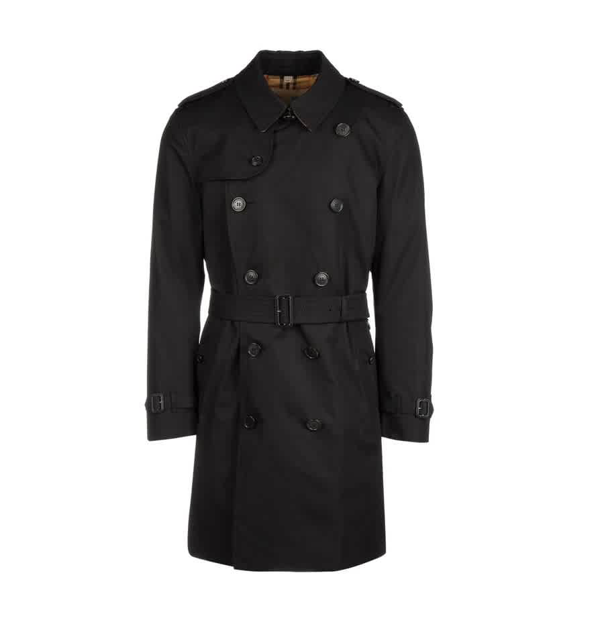 Burberry Mens Mid Length Kensington, Navy Trench Coats Mens