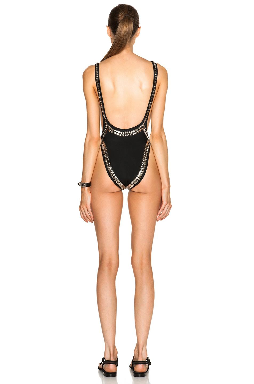 661859577282d Norma Kamali Marissa Metallic Studded One-Piece Swimsuit In Black ...