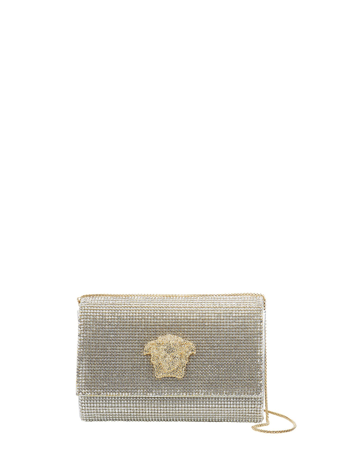 Versace Palazzo Swarovski Mesh Clutch In Crystal Mesh   ModeSens a8999b3302