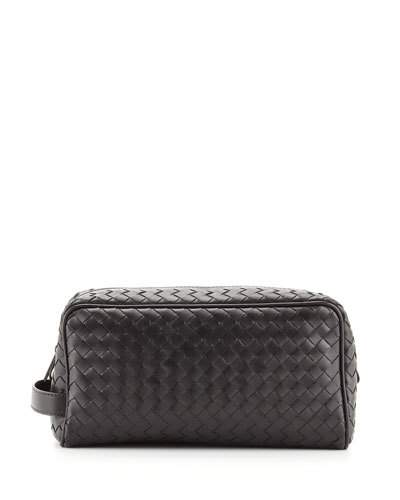 9816f58b87 Bottega Veneta Intrecciato Leather Washbag In Black