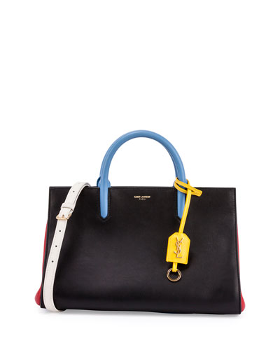 e96247359e Saint Laurent Small Cabas Rive Gauche Bag In Black