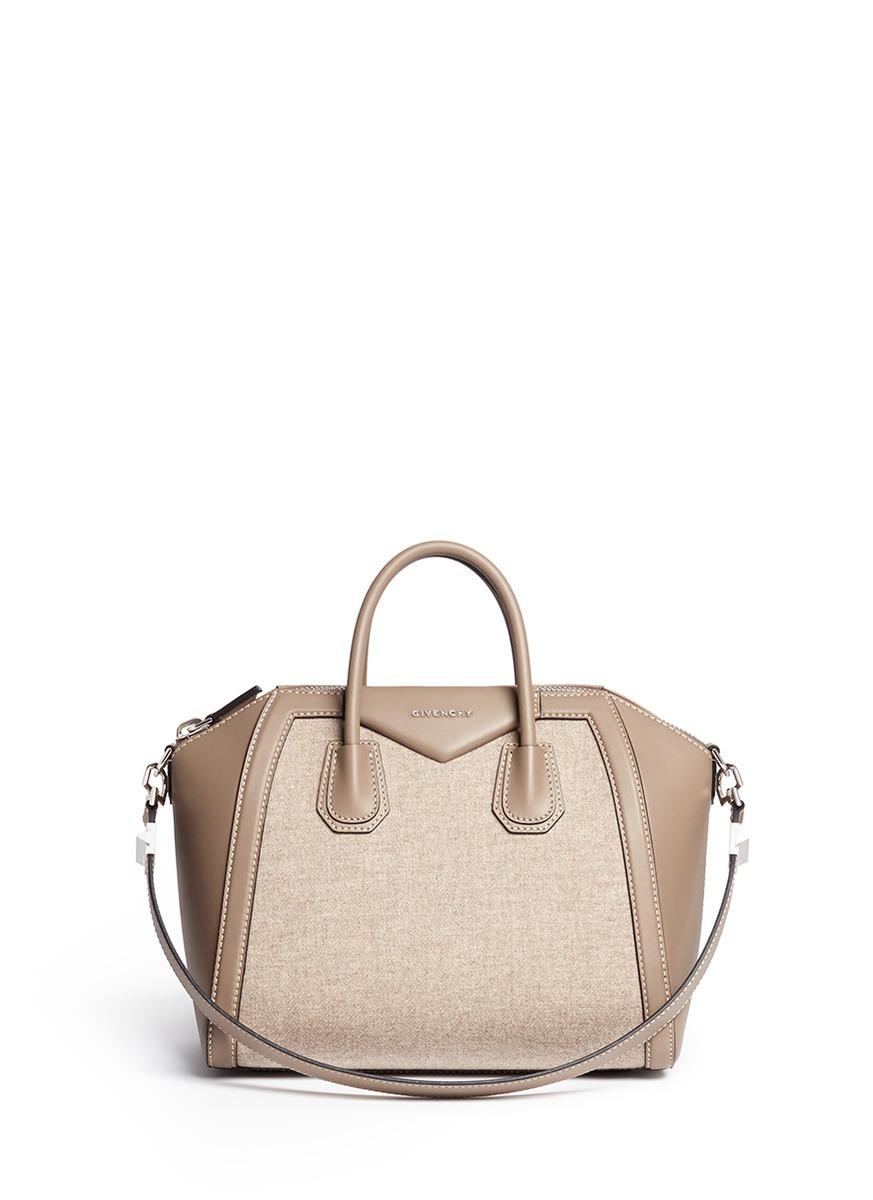 8af9b34016fb Givenchy  Antigona  Medium Virgin Wool Panel Leather Bag