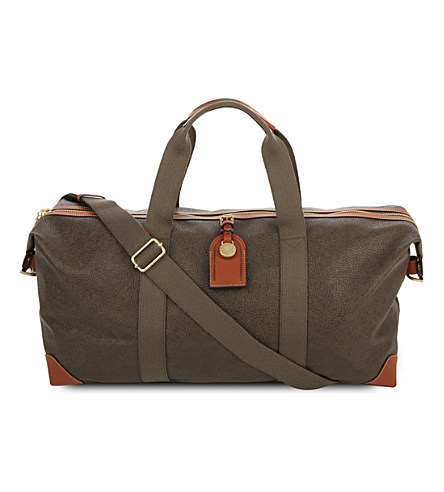 d631d309b20 Mulberry Medium Scotchgrained Leather Clipper Holdall In Black-Cognac